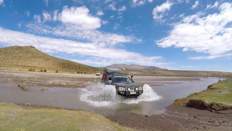 Cruzando Río Caritaya